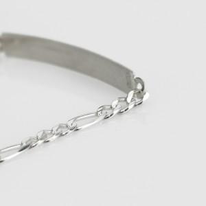grawerowana bransoletka ze srebra
