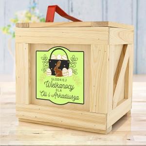 drewniany box prezentowy z dedykacją