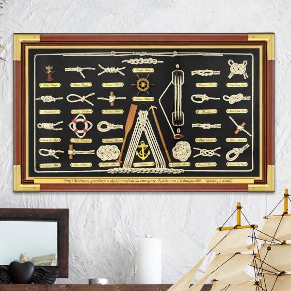 tablica węzłów żeglarskich do nauki