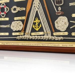 prezent dla żeglarza tablica z węzłami żeglarskimi