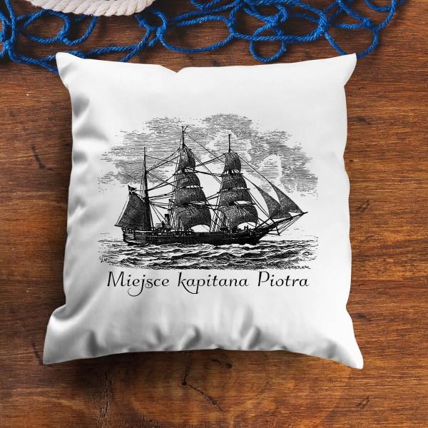 poduszka z nadrukiem dla kapitana