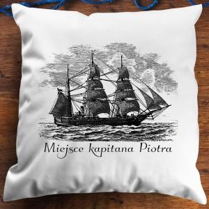 prezent dla żeglarza poduszka z imieniem