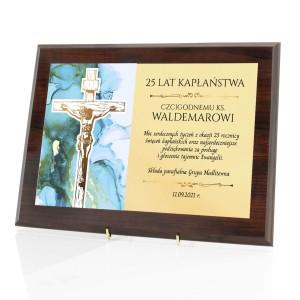certyfikat na 25 rocznicę święceń kapłańskich