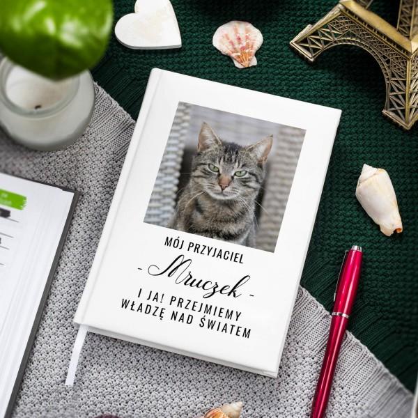 planer z nadrukiem zdjęcia dla miłośnika kotów