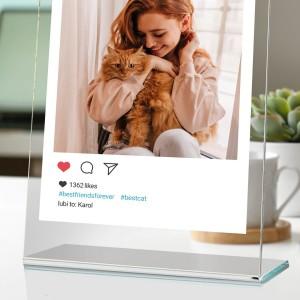 statuetka z nadrukiem zdjęcia dla miłośnika kotów