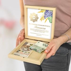pudełko na pieniądze na prezent
