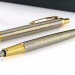 długopis i pióro Parker z grawerem dedykacji na prezent