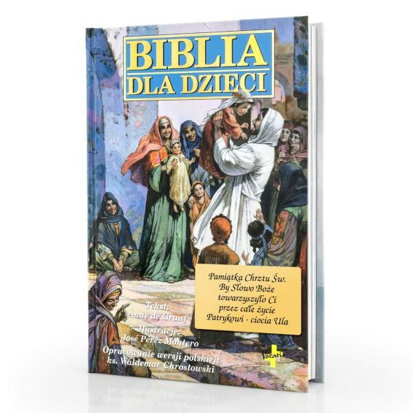 biblia dla dzieci z dedykacją