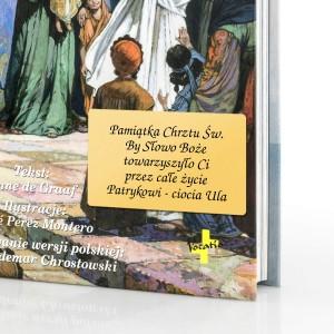biblia z grawerem dedykacji na pamiątkę chrztu