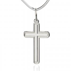 srebrny krzyżyk na prezent na chrzest