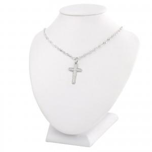 srebrny łańcuszek z krzyżykiem na prezent