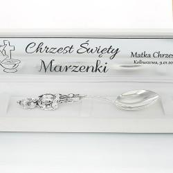 srebrna łyżeczka dla dziewczynki