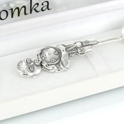 srebrna łyżeczka z grawerem