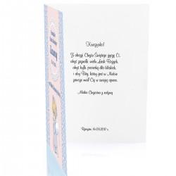 pamiątka na chrzest - kartka z personalizacją