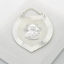 grawerowany srebrny ryngraf