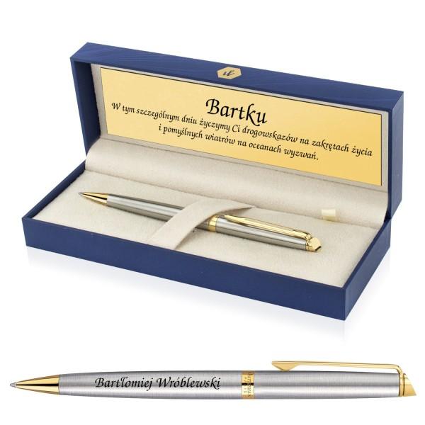 elegancki długopis dla mężczyzny w pudełku z grawerem