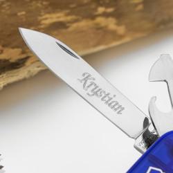 grawer imienia na ostrzu noża