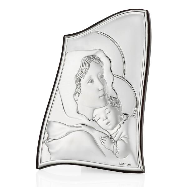 srebrny obrazek marka boska na prezent