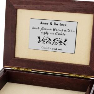 Szkatułka prezent na 25 Rocznicę Ślubu