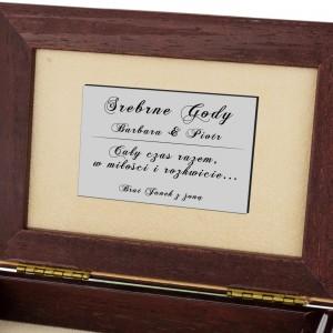 szkatułka na biżuterię upominek z okazji 25 rocznicy ślubu