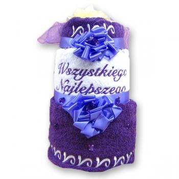 Tort z ręczników prezent na rocznicę ślubu