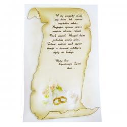 tuba dekoracyjna na ślub