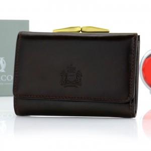 portfel damski skórzany z opcją graweru
