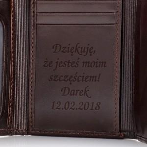 brązowy portfel damski na prezent dla niej