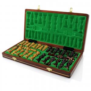 szachy drewniane senatorskie z grawerem
