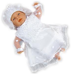 Atłasowe ubranko do chrztu