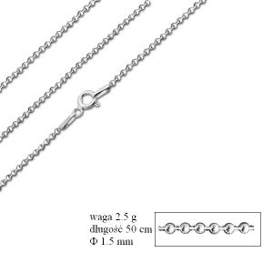 Łańcuszek kulkowy 50 cm