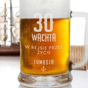 szklany kufel na piwo
