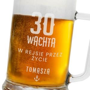 kufel na piwo z grawerem na 30 urodziny