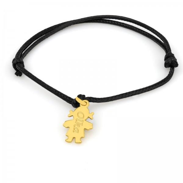 bransoletka sznurkowa na prezent dla dziecka