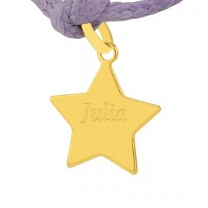 złota zawieszka gwiazdka na prezent