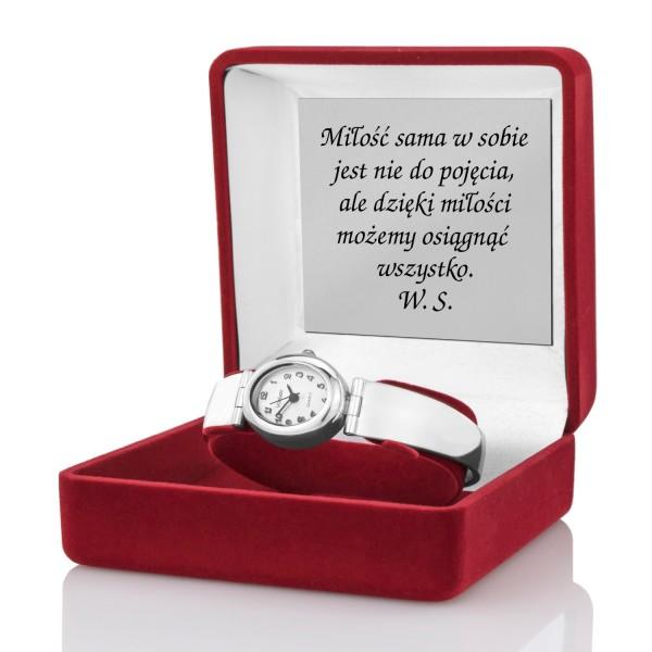 zegarek damski z grawerem w pudełku