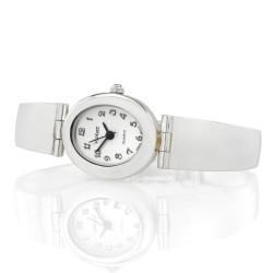srebrny zegarek na prezent dla kobiety
