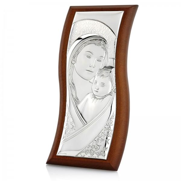 srebrny obrazek na pamiątkę dla dziecka z grawerem