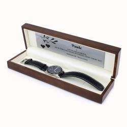 prezent dla niego zegarek casio w drewnianym etui z grawerem