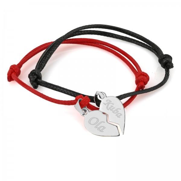 bransoletka serce łamane na prezent