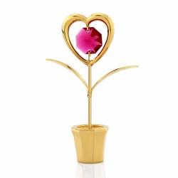 serce z kryształem na prezent
