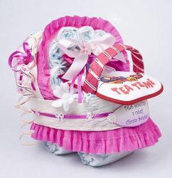 Wózek z pampersów prezent dla dziecka