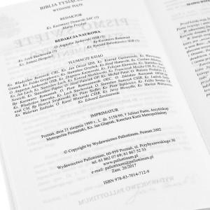 pismo święte na pamiątkę chrztu świętego