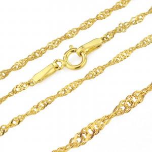 złoty łańcuszek 585 na prezent na chrzest