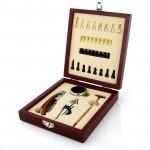 personalizowany zestaw do wina z planszą do gry w szachy