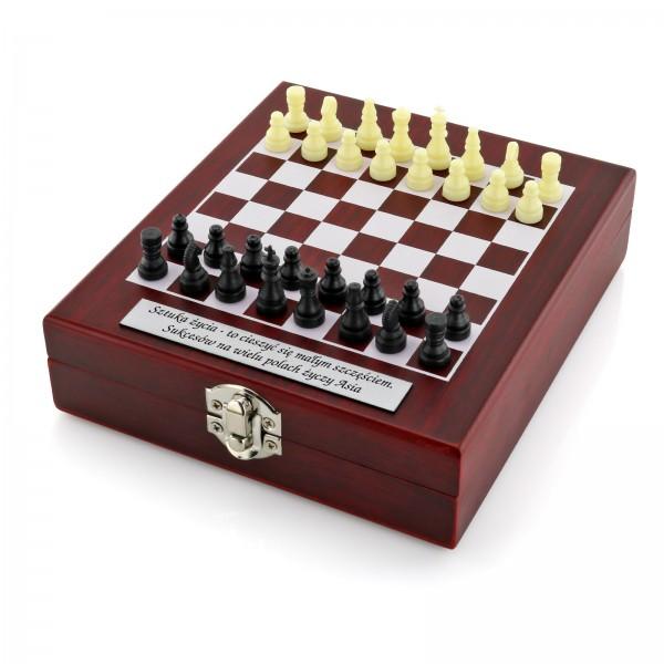 szachy z grawerem na prezent dla niej