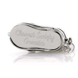 Srebrny buciki prezent dla chłopca
