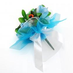prezent na narodziny dziecka haftowany bukiet ze skarpetek