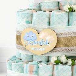 tort z pieluszek na prezent