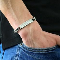 bransoletka męska z grawerem - prezent dla chłopaka